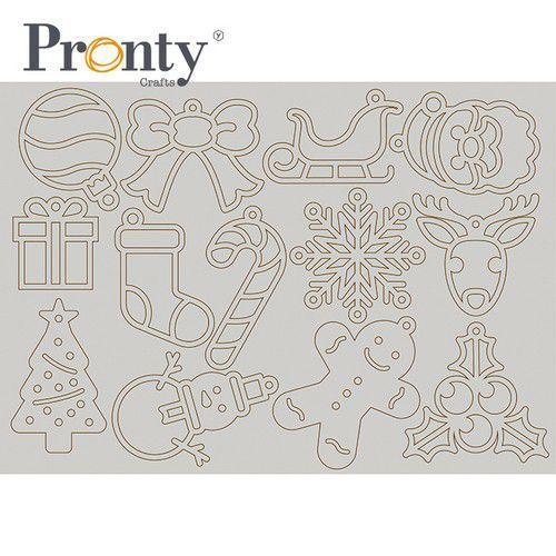 Pronty Grey Chipboard Kerstboom deco 492.001.020 A4 (07-21)