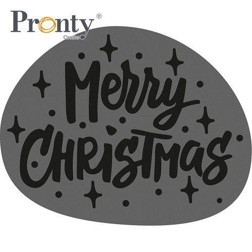 Pronty Foam stamps tekst Merry Christmas 494.001.030 (07-21)