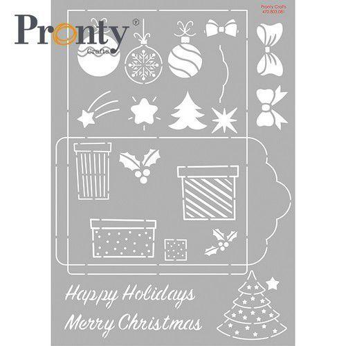 Pronty Mask stencil Cadeau envelop Kerst 470.803.081 A4 (07-21)