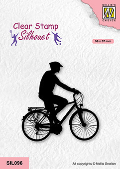 SIL096 Silhouette Clear stamps sports Cycling