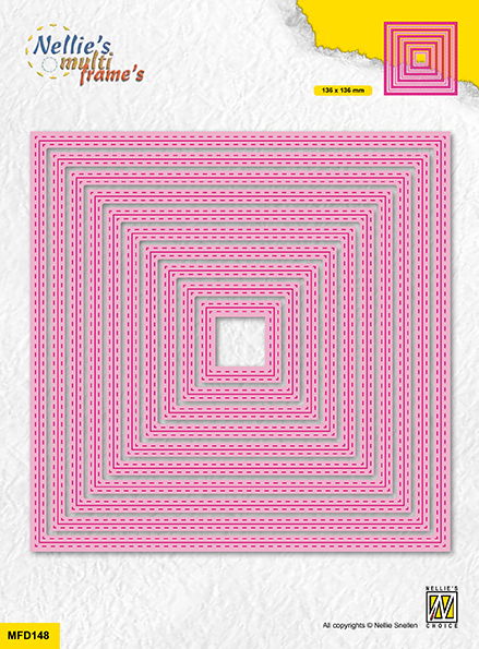 MFD148 Multi Frame Dies double stitchlines: square