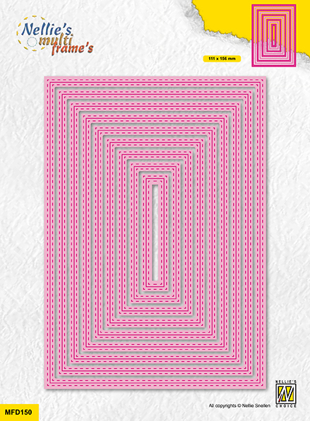 MFD150 Multi Frame Dies double stitchlines: rectangle