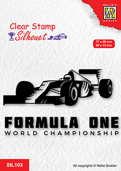 SIL103 Clear stamps silhouette Formula one serie: 2