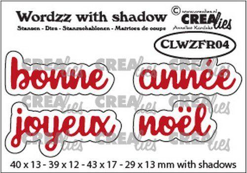 Crealies Wordzz with Shadow Joyeux Noël (FR) CLWZFR04 43x17mm (07-21)