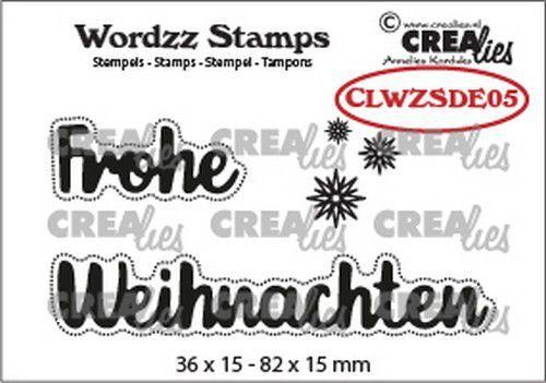 Crealies Clearstamp Wordzz Frohe Weihnachten (DE) CLWZSDE05 82x15mm (07-21)