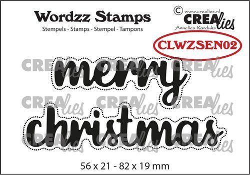 Crealies Clearstamp Wordzz Merry Christmas (ENG) CLWZSEN02 82x19mm (07-21)