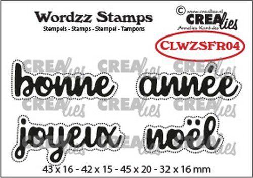 Crealies Clearstamp Wordzz Joyeux Noël (FR) CLWZSFR04 45x20mm (07-21)