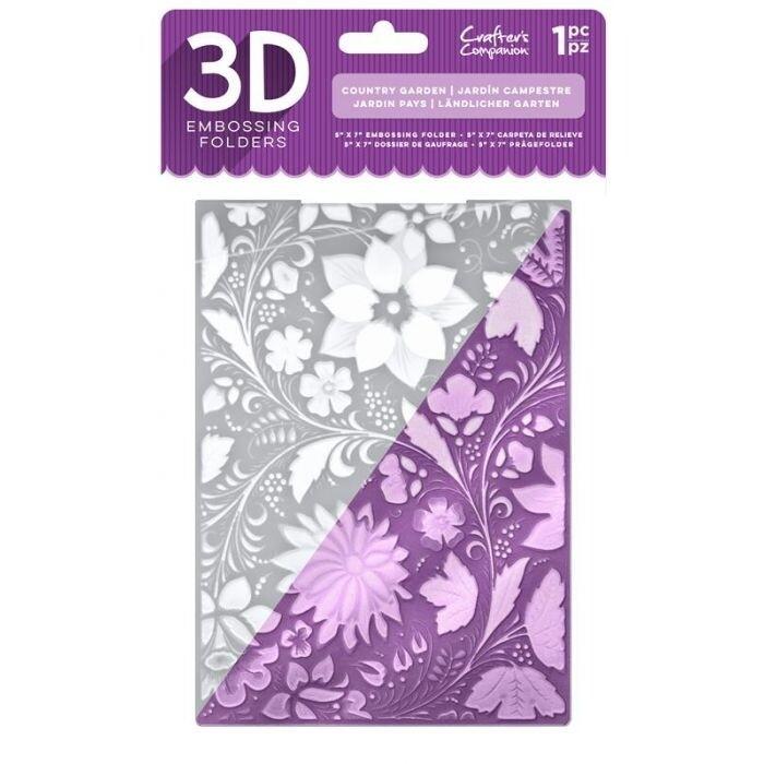 3D Embossing Folder - Country Garden