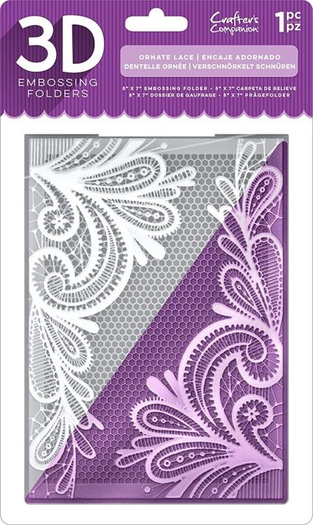 3D Embossing Folder - Ornate Lace