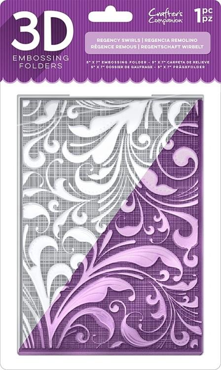 3D Embossing Folder - Regency Swirls