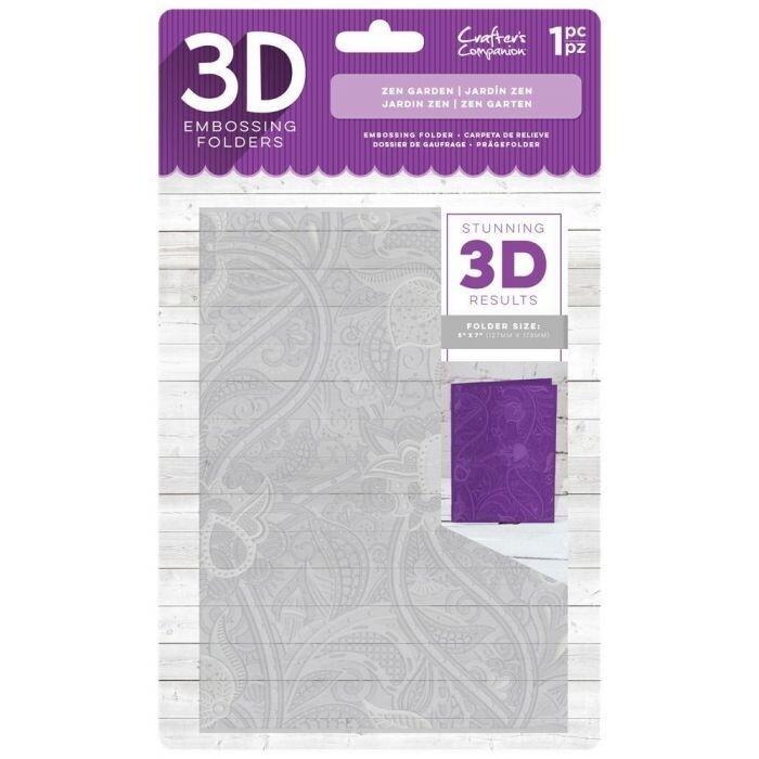 3D Embossing Folder - Zen Garden