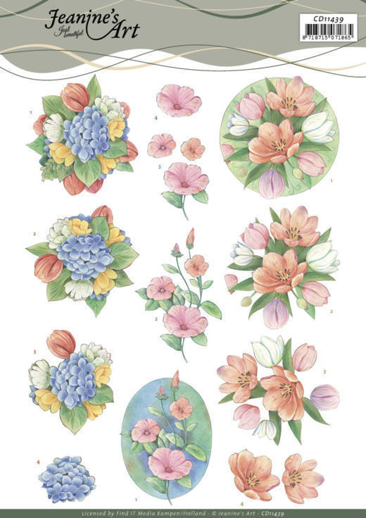 3D Cutting Sheet - Jeanine's Art - Tulips and more