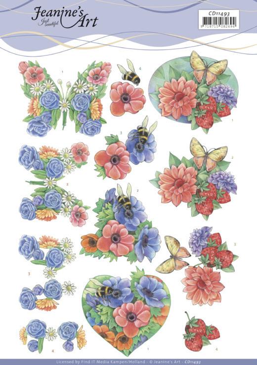 3D Cutting Sheet - Jeanine's Art - Summer Flowers
