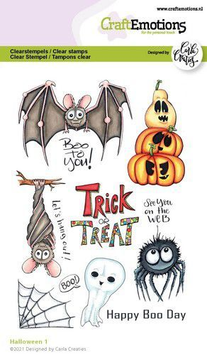 CraftEmotions clearstamps A6 - Halloween 1 (Eng) Carla Creaties (09-21)
