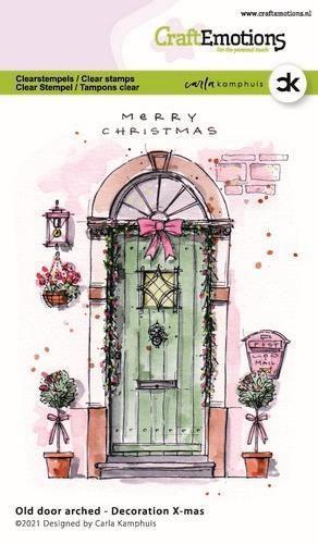 CraftEmotions clearstamps A6 - Oude deur met toog - Decoration X-mas Carla Kamphuis (08-20)