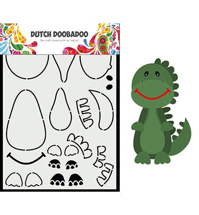Card Art Built up Dino