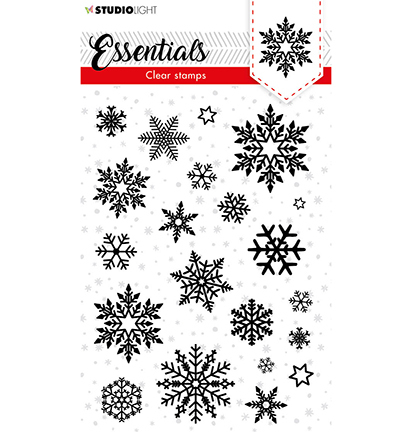 SL Clear stamp Christmas Snowflakes background Essentials nr.96