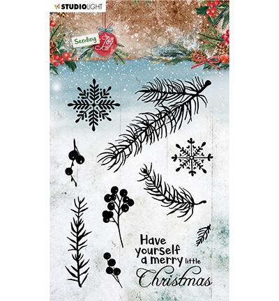 SL Clear stamp Branches/berries Sending Joy nr.54