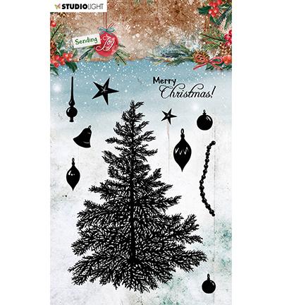 SL Clear stamp Build a Christmas tree Sending Joy nr.56