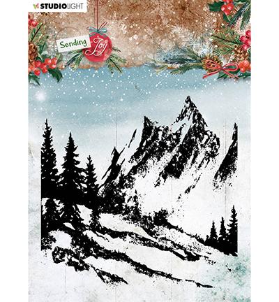 SL Clear stamp Background landscape Sending Joy nr.58
