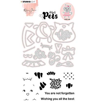 KJ Stamp & Cutting Die, Building Pets Cat Missees nr.03