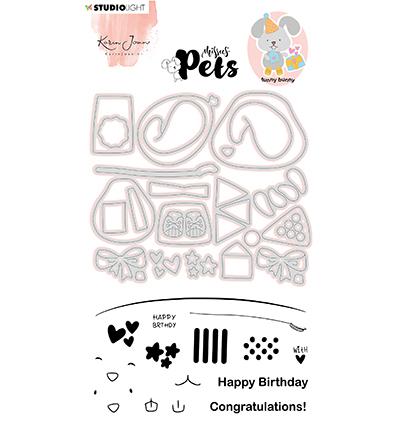 KJ Stamp & Cutting Die, Building Pets Bunny Missees nr.05