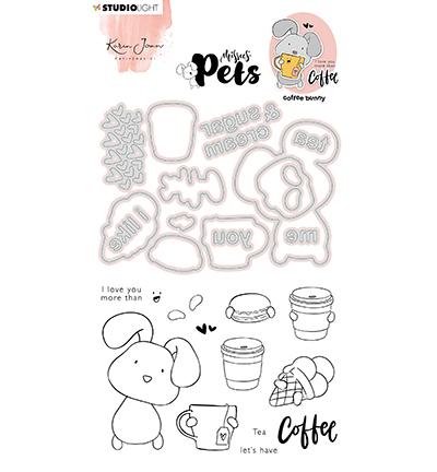 KJ Stamp & Cutting Die, Complete Pets Bunny Missees nr.08