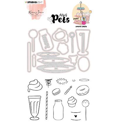 KJ Stamp & Cutting Die, Complete Pets Sweet table Missees nr.11