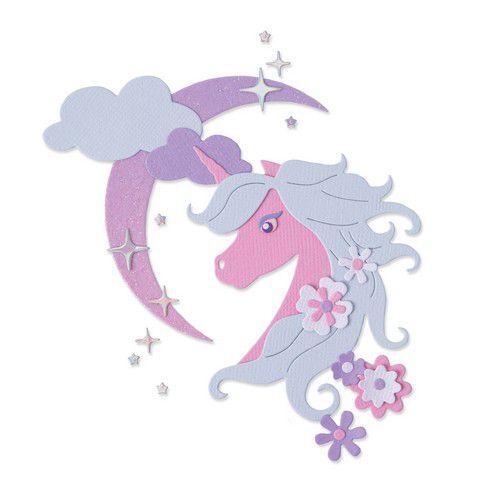 Sizzix Thinlits Die Set - Midnight Unicorn 8PK 665315 Olivia Rose (03-21)