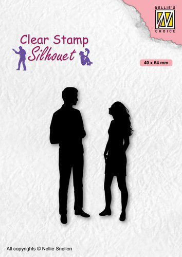 Nellies Choice Clearstempel - Silhouette Teenagers - Date SIL086 40x64mm (05-21)