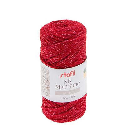 Macrame Glitter, Red