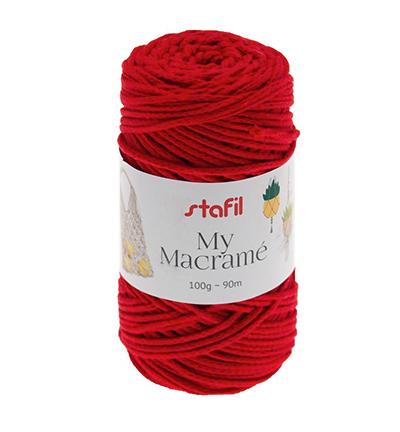 Macrame Yarn, Red