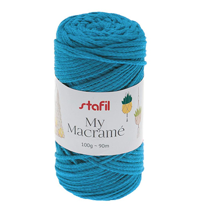 Macrame Yarn, Turquoise Blue