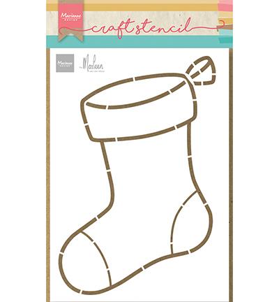 Craft stencils, Stocking by Marleen