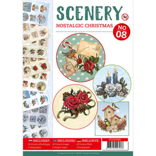Push Out book Scenery 8 - Nostalgic Christmas