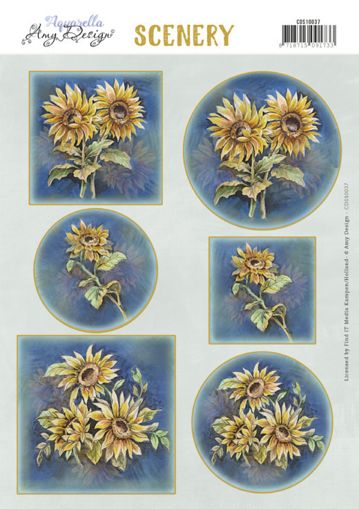 Scenery -Amy Design -Aquarella - Sunflowers