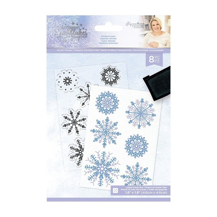 Glittering Snowflakes - A6 Clearstamp -