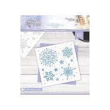 Glittering Snowflakes - 6x6