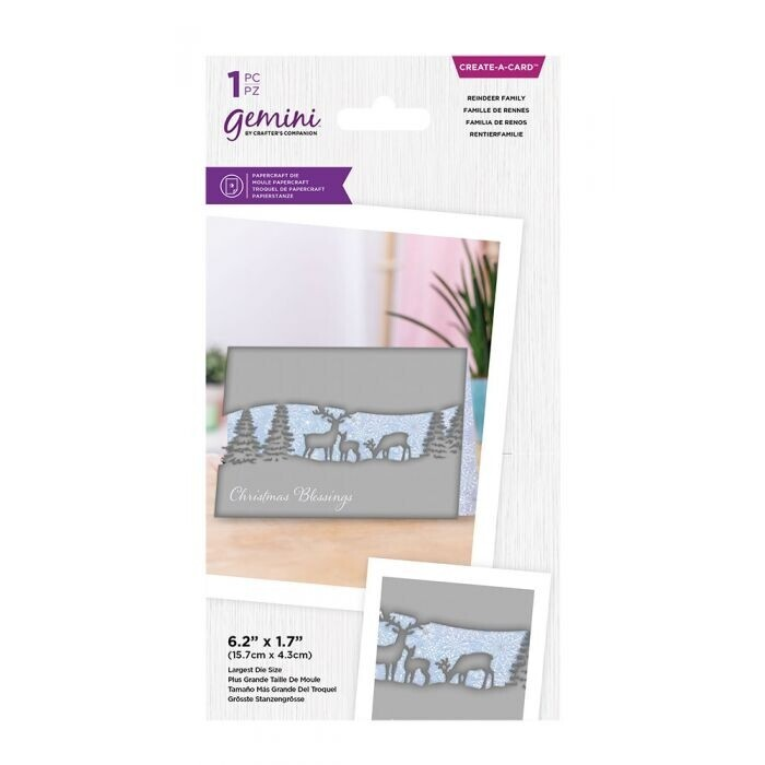 Gemini - Create a Card snijmal - Centerpiece Xmas - Reindeer Family