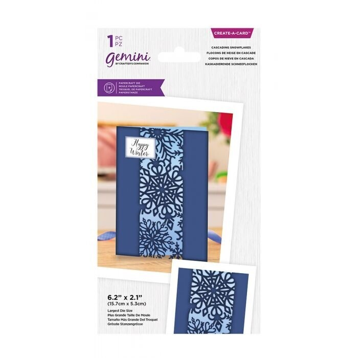 Gemini - Create a Card snijmal - Centerpiece Xmas - Cascading Snowflakes