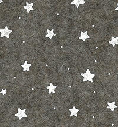 Felt stars, Brown melange/White