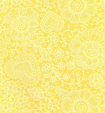 Felt lace, Maize Yellow/White