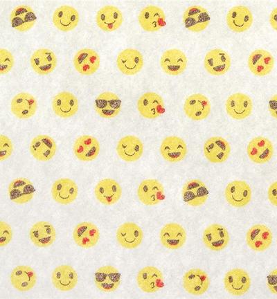 Felt Smile, White/Multicolor
