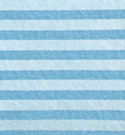 Felt stripes, Azure/Cream