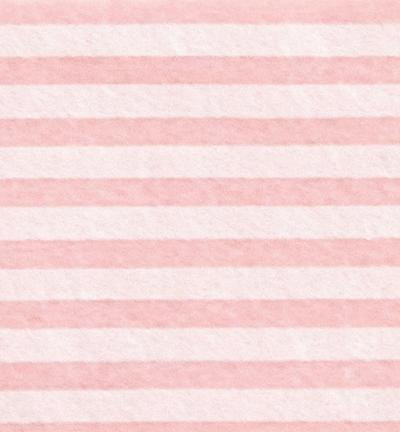 Felt stripes, Pink Pastel/Cream