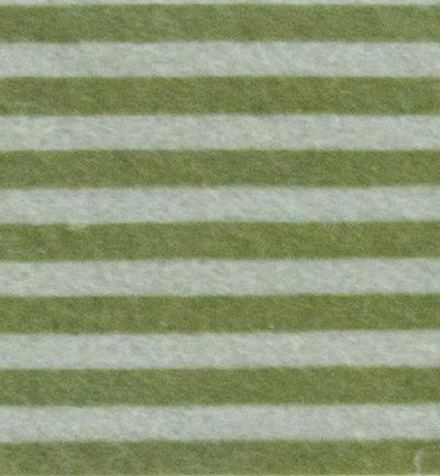 Felt stripes, L. Grey Silver/Olive Green