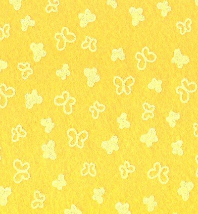 Felt butterflies, Maize Yellow/White
