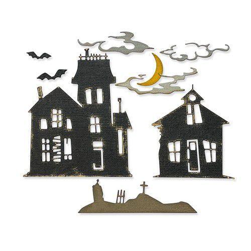 Sizzix Thinlits Die Set 8PK - Ghost Town #2 665560 Tim Holtz (08-21)