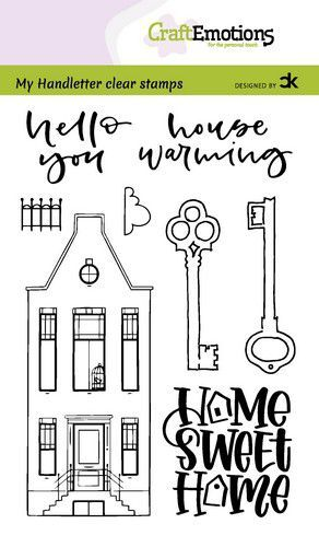 CraftEmotions clearstamps A6 - handletter - Nieuwe Woning 3 (Eng) Carla Kamphuis (08-21)
