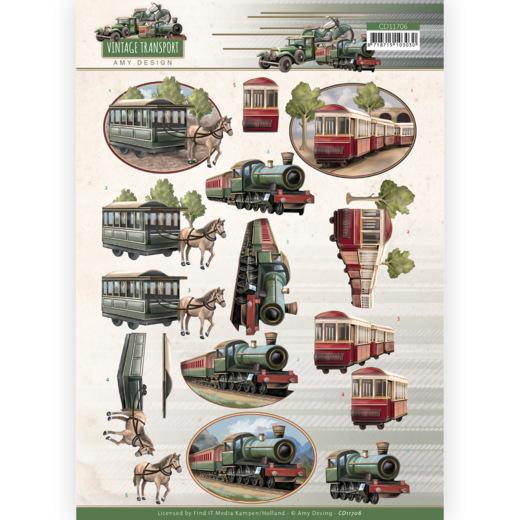 3D Cutting Sheet - Amy Design - Vintage Transport - Train